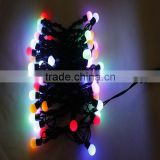 Colorful LED Cotton Ball String Lights for Party Decoration