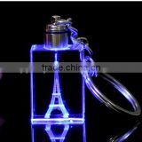 blue color crysta light keychain with Eiffel Tower engraved                                                                         Quality Choice