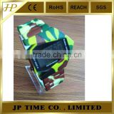 Men's Camouflage watch Style Multi-Functional Digital Colorful LED Silicone Band Wrist
