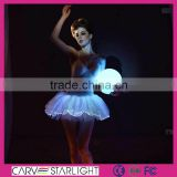 2015 fashion led luminous kids ballroom tutu dresses for ballet dancers