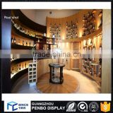 Best design wine display showcase for shopping mall decoration