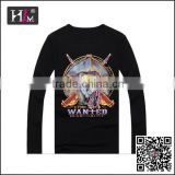 New Design wholesaler mens extra long t shirts with low MOQ
