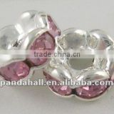 "Grade ""A"" Rhinestone, Pink Wholesale Beads Suppliers(RSB030NF-07)"