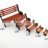 latest new bench, model park chair, plastic chair in model building , scale model building , architecture model materails