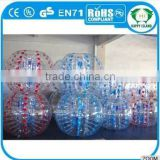 High quality PVC/TPU half color tpu bubble soccer bubble ball