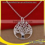 plated 925 silver christmas silver tree of life pendant necklace                                                                         Quality Choice