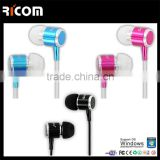 Metal 3.5mm flat cable earphones,Metal stereo flat cable earphone,Metal flat cord earphone-EO3007B--Shenzhen Ricom