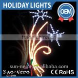 eye-catching warm white christmas led motif lights outdoor sparkling street light falling star glitter led village lights
