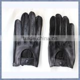 Export Male Black and Yellow Motorcycle Glove Driving Glove Sheepskin Leather Motrocycle Glove