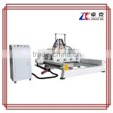 1 Z axis,4 spindles,Z air cylinder China hot sale 1325 cnc wood lathe cutting machine                                                                                                         Supplier's Choice