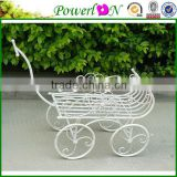 White Decorative Wrought Iron Vintage Antique Powder Coating White Flower Stands For Home Patio Outdoor TS05 G00 X00 PL08-5828