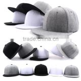 Big Hot Sale 2016 Heather Grey Snap Back Golf Hat With Plastic Snap Closure