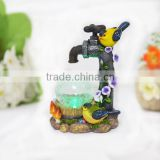 Garden faucet bird glass ball solar light decoration product