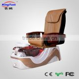 MYX-1033 Salon Brown Pedicure Chair with glass bowl