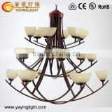 American Iron staircase chandelier, spiral staircase vintage chandelier,penthouse villa long chandelier hotel lobby lights