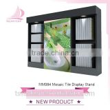 mosaic tile and mable stone exhibition rack in showroom