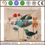 high quality painting of flowers and birds in traditional Chinese style custom cushion cover