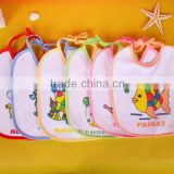 2015 Hot Selling 100% Cotton Terry Towel Fabric Girl Boy cotton baby bandana bibs