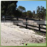 4-rail Non color fade and strong UV protected ASA black color material coated PVC ranch horse use post and rail farm fence