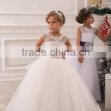 Latest Children Frocks Lace Long A Line Flower Girl Dresses Birthday Pattern Kids Party Dress LF21