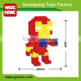 New super heroes figure small building block plastic toy gears