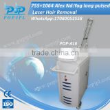 Beauty equipment gentle lase 755nm alexandrite laser price hair removal treatment cost china factory pop