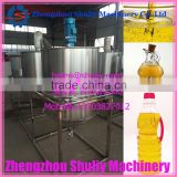ISO9001:2008 complete set high quality sunflower oil refining machine 50T/D crude oil refinery equipment