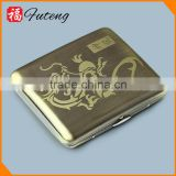 Laser Bronze Wire Printing 20pcs Mens Tobacco Case Waterproof Cigarette Case