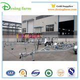 New design galvanized boat transport trailer