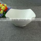 Cheap China Supplier Wholesale Porcelain Salad Bowl, white Fruit Porcelain Big Bowls in stock