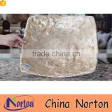 Square shape table decor resin and shell material fruit plate NTRS-TD010A