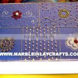 Beautiful Zari Hand Embroidery Jewelry Box