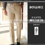 2015 latest design mens casual pants cotton twill trousers