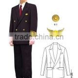 Custom High Quality Jacket And Hat For Airline Pilot Clothing Of Aviator Jacket/Suit