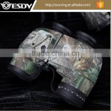 Military 10X50 Camo Binoculars Waterproof Telescope with Rangefinder and Compass Reticle
