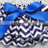 children chevron clothes factory sale baby new satin shorts toddler chevron PP blue pants infant underwear diaper cover with bow