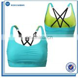 Custom Make Ladies Fitness Workout Sports Bra Short Gym Top Bra With Adjustable Shoulder Straps