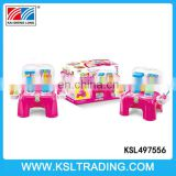 Hot sale kitchen toy chair play set with light and music