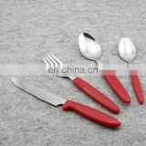 Stainless steel cutlery color handle