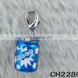 Custom DIY Jewelry Accessories Alloy Enamel Coke Bottle charms for bracelet making
