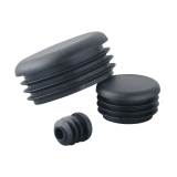 MOCAP LDPE black round decorative pipe end cap