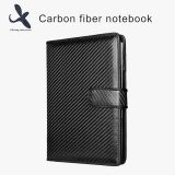 Luxury Black Carbon Fiber Cover Business Notebook With Custom Logo Business Gift