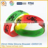 Deboss silicone wrist band , custom debossed silicone rubber band