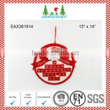 Red and white round christmas plush advent calendar