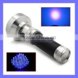 Amazon Hotsale Aluminum 100 LED Blacklight Light UV Nail Gel Curing Torch Camping Flashlight