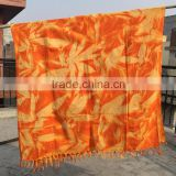 Wholesale floral Dyed Soft Color Terry 100% Cotton fouta towel top brand tye dye fouta towels beach chair cover up kenyian pareo