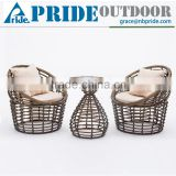 Outdoor Leisure Dining Table Set Garden Wicker Egg Chair Rattan Furniture Italian Design