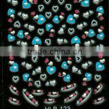 lovely color heart full nail stickers
