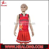 children clothing sleeveless shirt with dress red basketball uniform