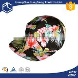 2015 Top Selling wholesale floral printing hat for girls 5 panel cap